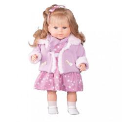 Luxusná hovoriaca detská bábika-dievčatko Berbesa Kristýna 52cm ružová