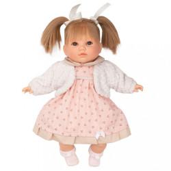 Luxusná hovoriaca detská bábika-dievčatko Berbesa Natálka 40cm ružová