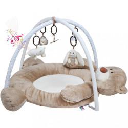 Luxusná hracia deka s melódiou PlayTo medvedík hnedá