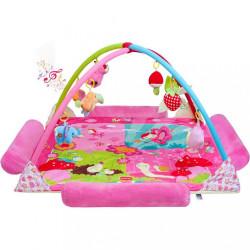 Luxusná hracia deka s melódiou PlayTo zvieratká ružová