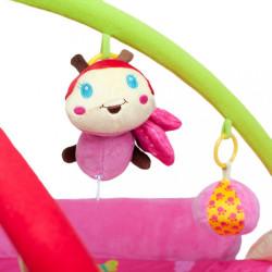 Luxusná hracia deka s melódiou PlayTo zvieratká ružová #1