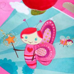 Luxusná hracia deka s melódiou PlayTo zvieratká ružová #2