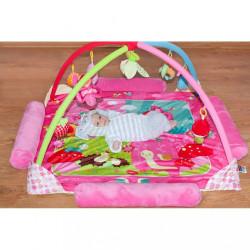 Luxusná hracia deka s melódiou PlayTo zvieratká ružová #5