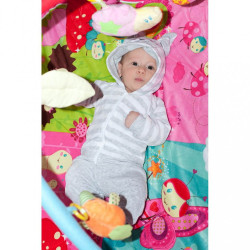 Luxusná hracia deka s melódiou PlayTo zvieratká ružová #7