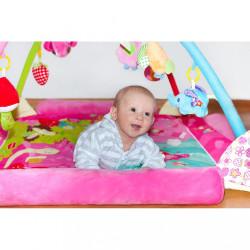 Luxusná hracia deka s melódiou PlayTo zvieratká ružová #8