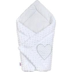 Luxusná Zavinovačka z Minky New Baby biela 73x73 cm