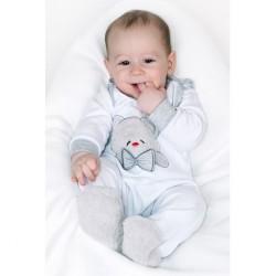 Luxusné dojčenské body s dlhým rukávom New Baby Honey Bear s 3D aplikáciou biela #7