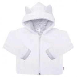 Luxusný detský zimný kabátik s kapucňou New Baby Snowy collection biela