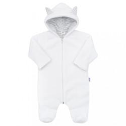 Luxusný detský zimný overal New Baby Snowy collection biela