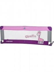 Mantinel do postieľky CARETERO Giraffe fialová