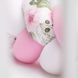 Mantinel do postieľky vrkoč Sensillo ružový kvety #6