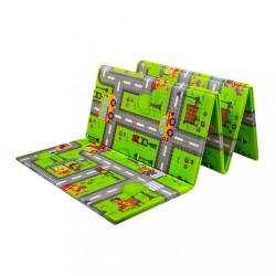 Multifunkčná skladacia hracia podložka PlayTo Cesta zelená