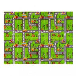 Multifunkčná skladacia hracia podložka PlayTo Cesta zelená #1