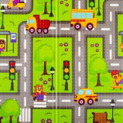 Multifunkčná skladacia hracia podložka PlayTo Cesta zelená #2