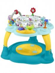 Multifunkčný detský stolček Baby Mix modro-žltý podľa obrázku