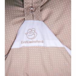 Obliečka béžová s bodkami na zavinovačku Dráčik #1