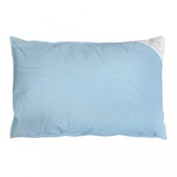 Obliečka na vankúš modrá s bodkami - 60x40 cm
