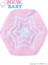 Pletená čiapočka-baret New Baby svetlo ružová #1