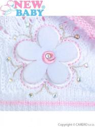 Pletená čiapočka-baret New Baby svetlo ružová #2