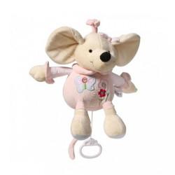 Plyšová hračka s hracím strojčekom Baby Ono Myška ružová
