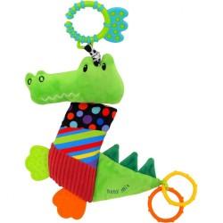 Plyšová hračka s vibráciou Baby Mix Krokodýl oranžová