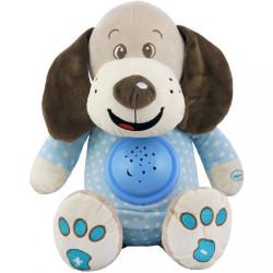Plyšový psík s projektorom Baby Mix modrý