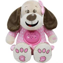 Plyšový psík s projektorom Baby Mix ružový