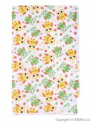 Prebaľovacia podložka Akuku 55x70 sovy žlto-zelené biela