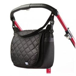 Prešívaná taška na kočík CARETERO black Čierna