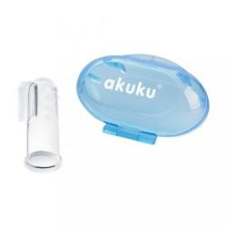Prvá zubná kefka s puzdrom Akuku modrá