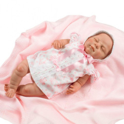 Realistická bábika Berbesa Markétka 50cm ružová