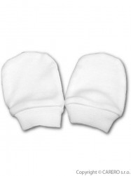 Rukavičky pre novorodenca biela