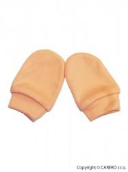 Rukavičky pre novorodenca oranžová