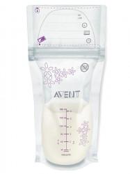 Sada sáčkov na mlieko Avent 180 ml - 25 kusov podľa obrázku