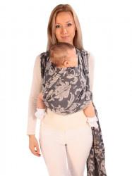 Šatka Womar na nosenie detí hnedá