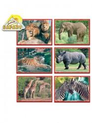 Skladacie obrázkové kocky 12 ks afrika zelená