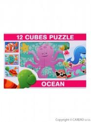 Skladacie obrázkové kocky 12 ks more podľa obrázku