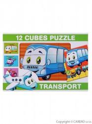 Skladacie obrázkové kocky 12 ks transport podľa obrázku