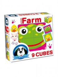 Skladacie obrázkové kocky Farm animals podľa obrázku