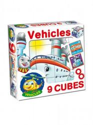 Skladacie obrázkové kocky Vehicles podľa obrázku