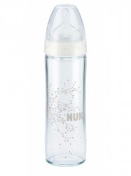 Sklenená dojčenská fľaša NUK New Classic 240 ml transparentná