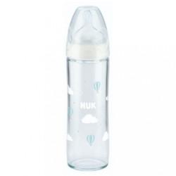 Sklenená dojčenská fľaša NUK New Classic 240 ml white biela