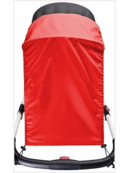 Slnečná clona na kočík CARETERO red Červená