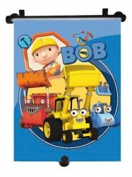 Slnečná roleta do auta Disney Bob the builder modrá