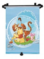 Slnečná roleta do auta Disney Winnie the Pooh modrá