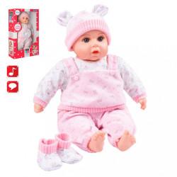 Slovensky hovoriaca a spievajúca detská bábika PlayTo Júlia 46 cm ružová