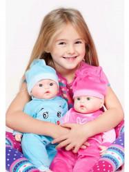 Slovensky hovoriaca a spievajúca detská bábika PlayTo Júlia 46 cm ružová #3