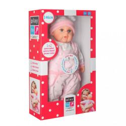 Slovensky hovoriaca a spievajúca detská bábika PlayTo Júlia 46 cm ružová #6