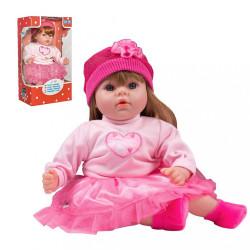 Slovensky hovoriaca a spievajúca detská bábika PlayTo Tina 46 cm ružová