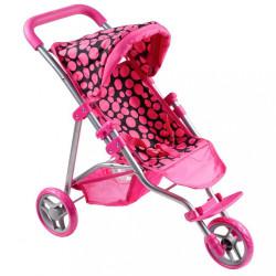 Športový kočík pre bábiky PlayTo Olivie ružový podľa obrázku